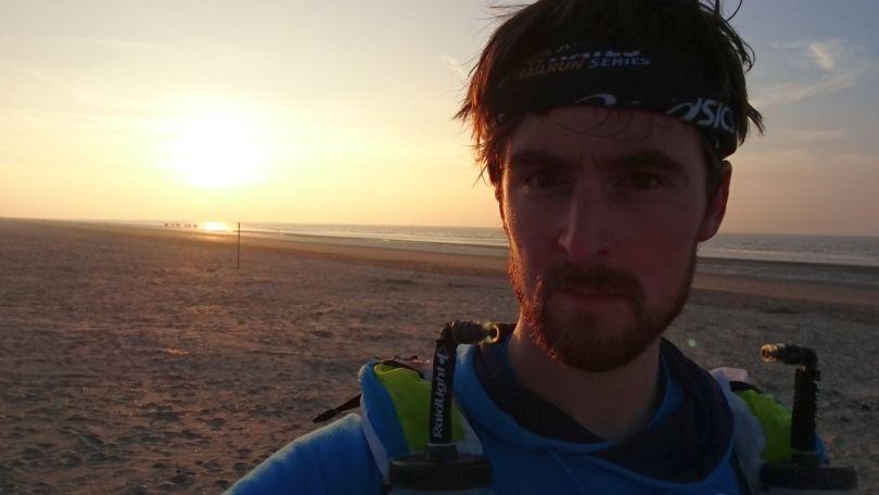 Karel Sabbe trainen aan zee voor de MdS