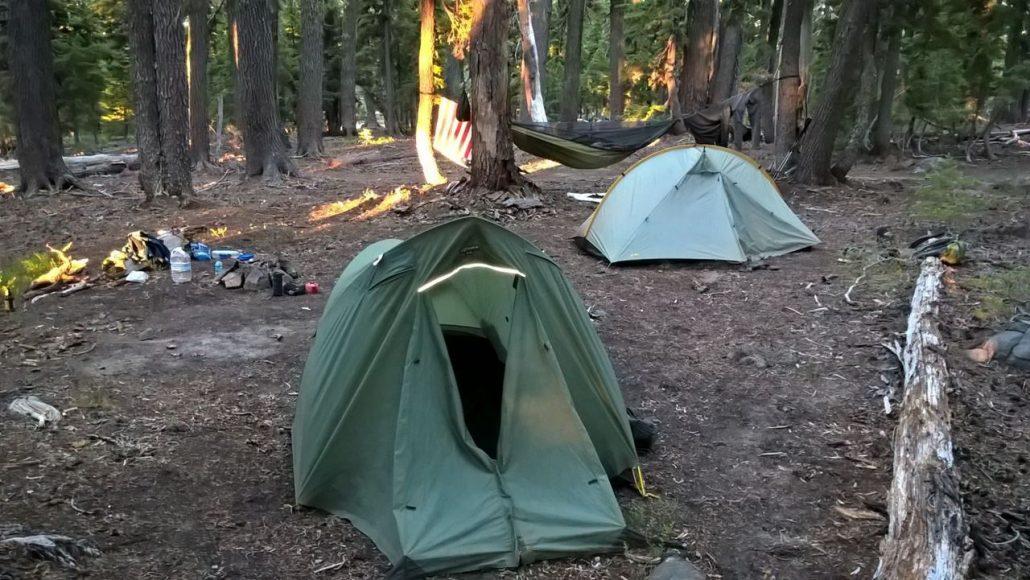 kamperen aan het PCT pad
