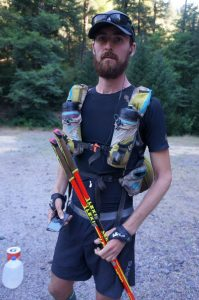 Karel Sabbe equipment for Pacific Crest trail speedrecord